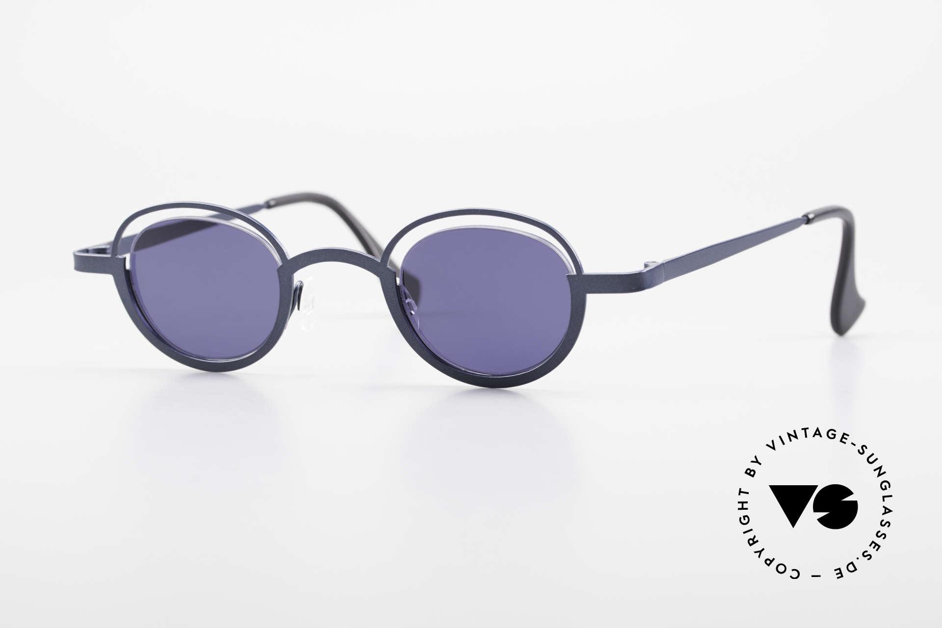 Theo Belgium Dozy Slim 90er Unisex Sonnenbrille, grandiose vintage Theo Belgium Sonnenbrille von '97, Passend für Herren und Damen