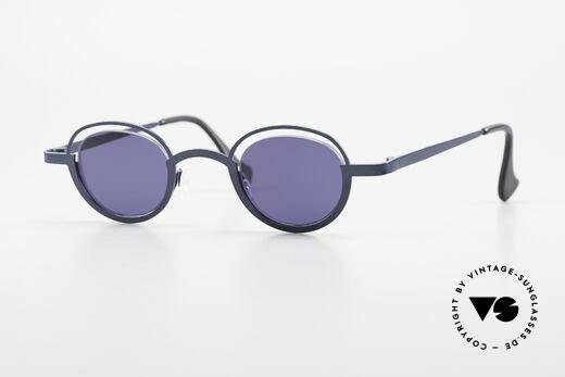 Theo Belgium Dozy Slim 90er Unisex Sonnenbrille Details