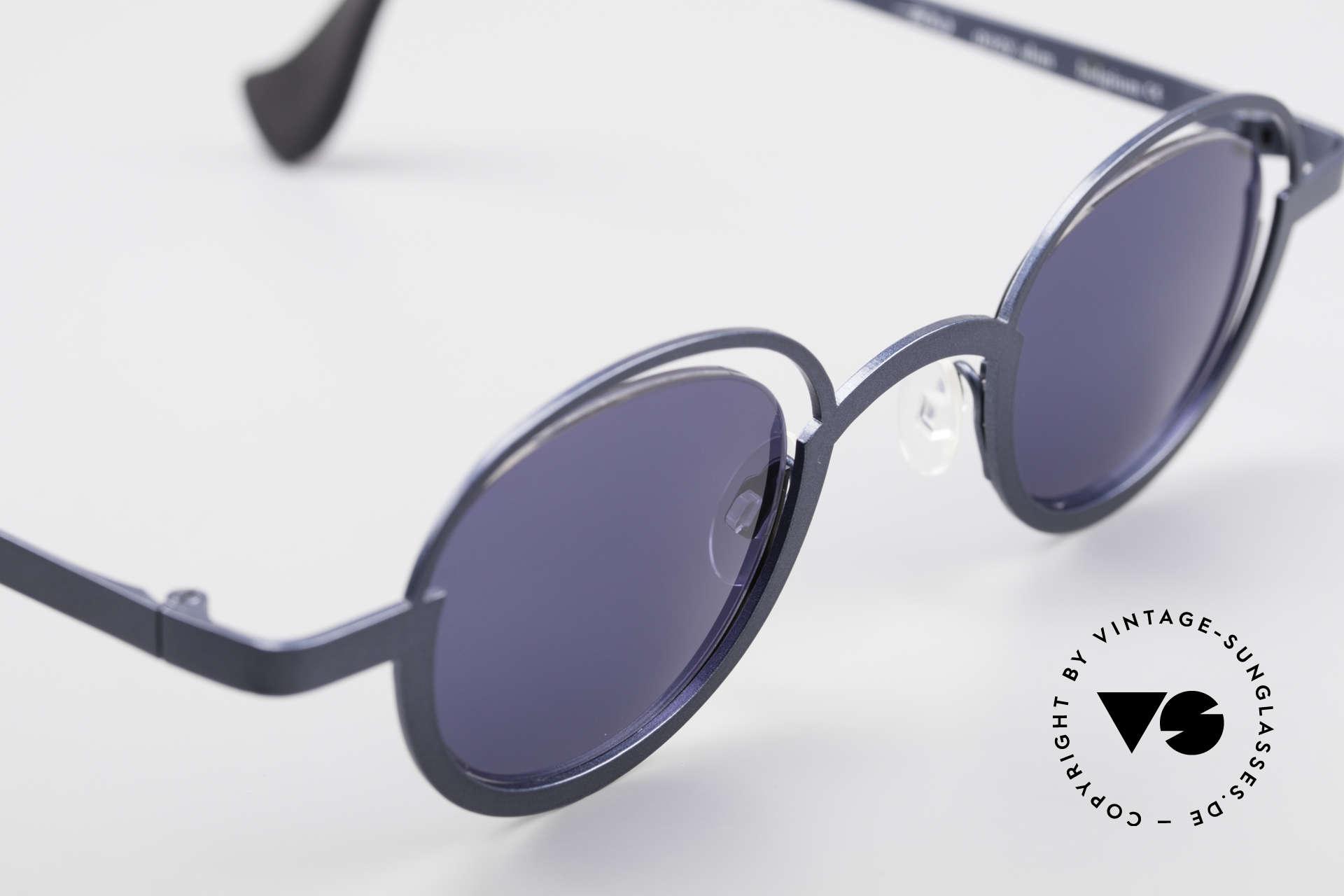 """Theo Belgium Dozy Slim 90er Unisex Sonnenbrille, ungetragen; wie alle unsere THEO """"Charakter-Brillen"""", Passend für Herren und Damen"""