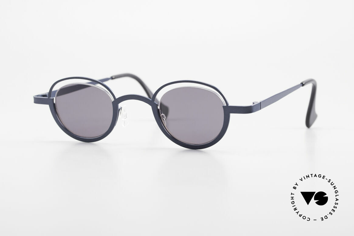 Theo Belgium Dozy Slim Verrückte 90er Sonnenbrille, grandiose vintage Theo Belgium Sonnenbrille von '97, Passend für Herren und Damen
