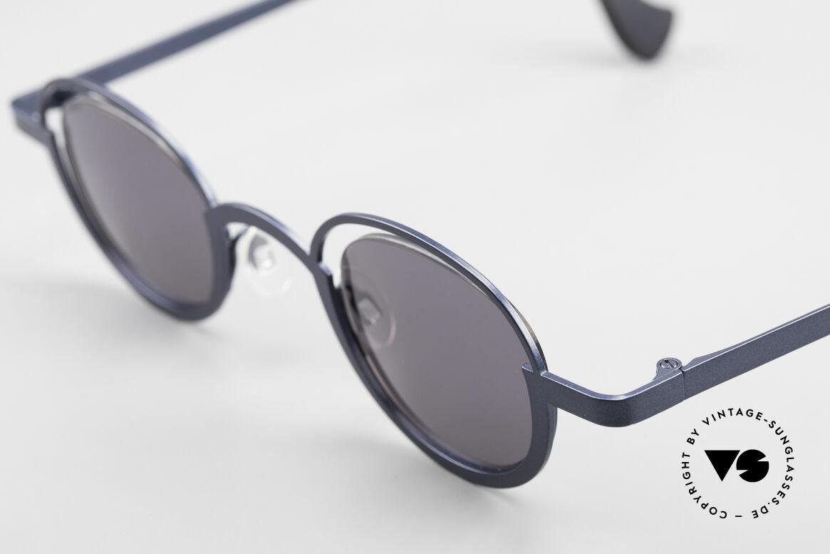 """Theo Belgium Dozy Slim Verrückte 90er Sonnenbrille, außergewöhnliches Designer-Stück (""""Dozy Slim"""" ;-), Passend für Herren und Damen"""