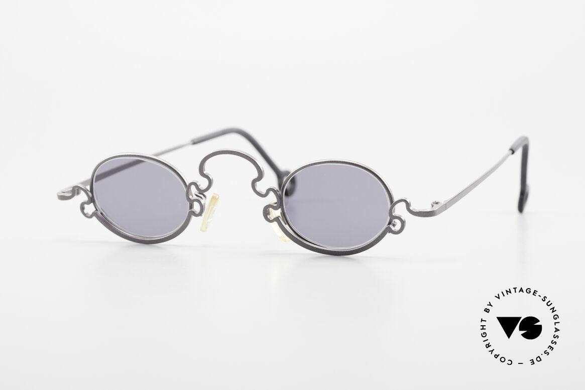Theo Belgium Puzzle Spaghetti Sonnenbrille 90er, Theo Belgium: die eigenwilligste Brillenmarke, weltweit, Passend für Damen