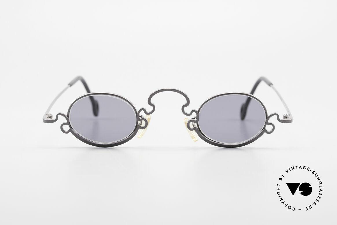 Theo Belgium Puzzle Spaghetti Sonnenbrille 90er, in 1989 gegründet als 'ANTI MAINSTREAM' Brillenmode, Passend für Damen