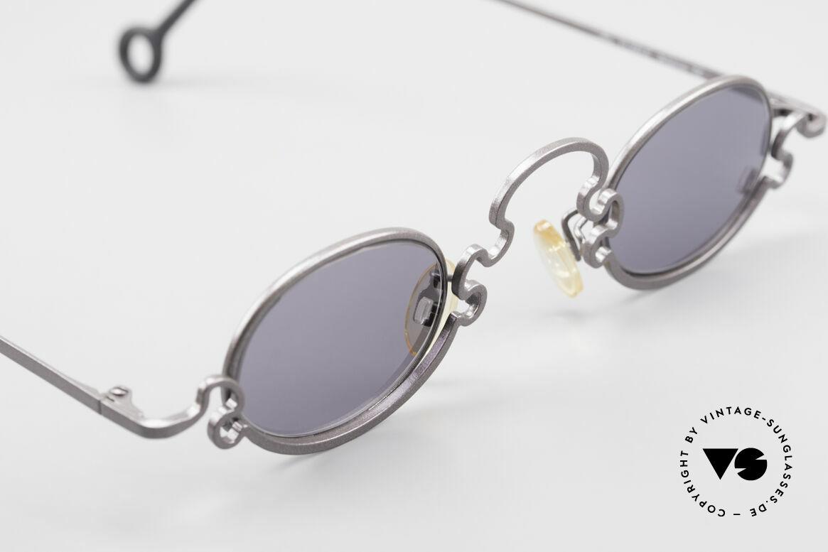 Theo Belgium Puzzle Spaghetti Sonnenbrille 90er, ungetragenes Theo-Einzelstück für die, die sich trauen!, Passend für Damen