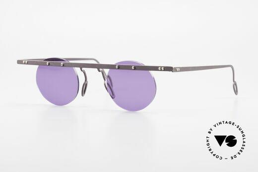 Theo Belgium Tita VII 5 Titanium 90er Sonnenbrille Details