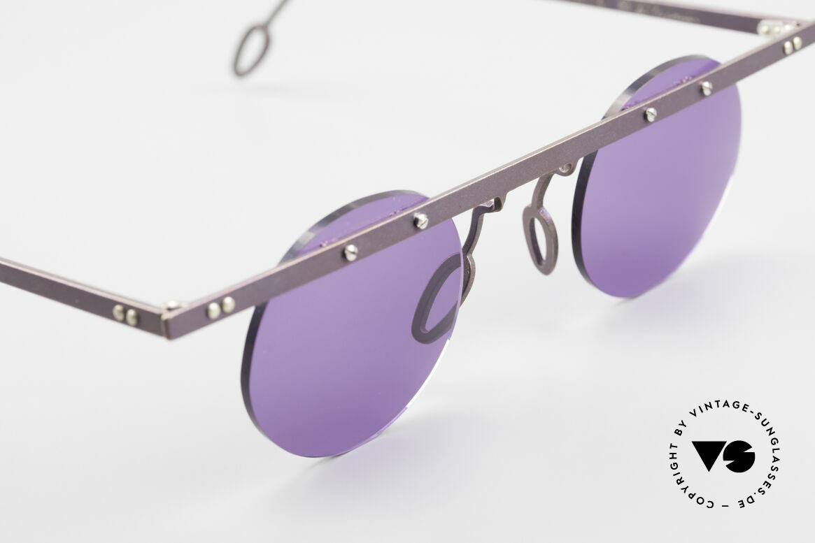 Theo Belgium Tita VII 5 Titanium 90er Sonnenbrille, ungetragenes Theo-Original und KEINE RETROBRILLE!, Passend für Herren und Damen