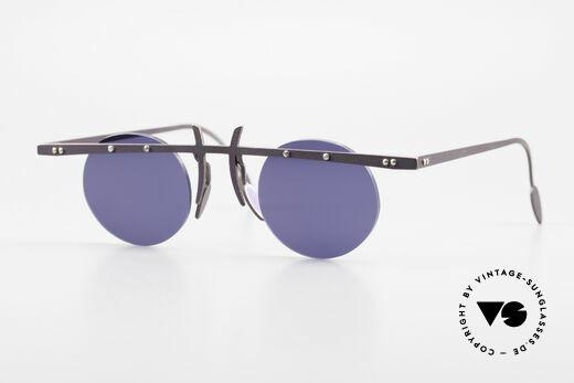 Theo Belgium Tita VI 4 Crazy Sonnenbrille 90er Titan Details