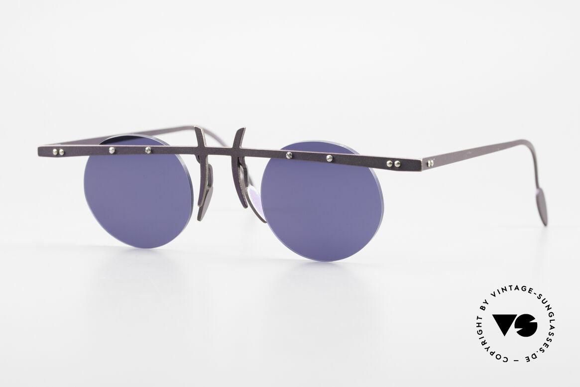 Theo Belgium Tita VI 4 Crazy Sonnenbrille 90er Titan, Theo Belgium: die eigenwilligste Brillenmarke, weltweit, Passend für Herren und Damen
