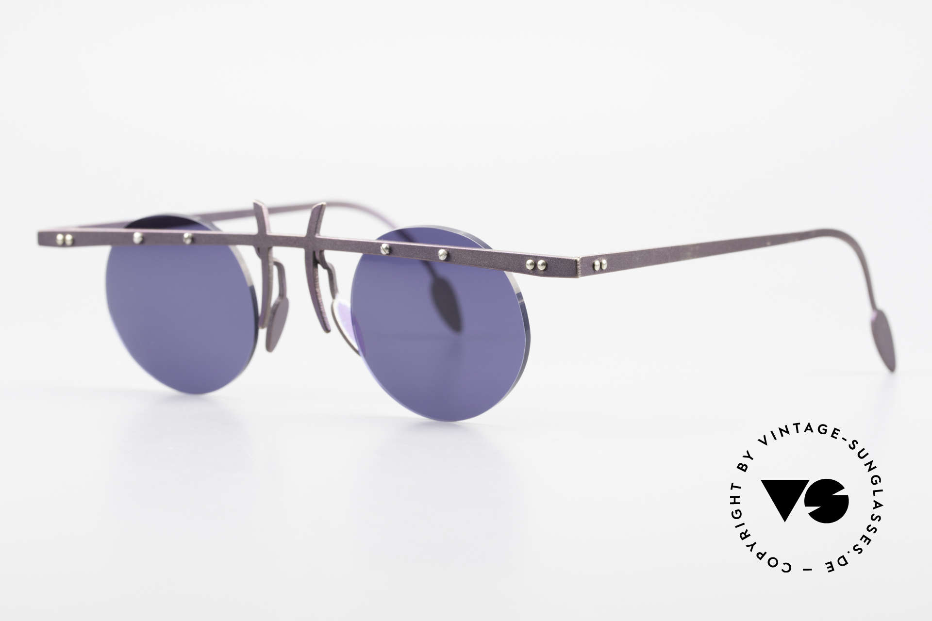 Theo Belgium Tita VI 4 Crazy Sonnenbrille 90er Titan, TITA-Serie = large Titanium Modelle von THEO der 90er, Passend für Herren und Damen