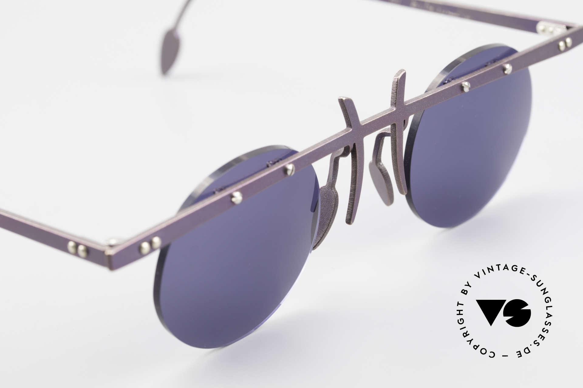 Theo Belgium Tita VI 4 Crazy Sonnenbrille 90er Titan, ungetragenes Theo-Original und KEINE RETROBRILLE!, Passend für Herren und Damen