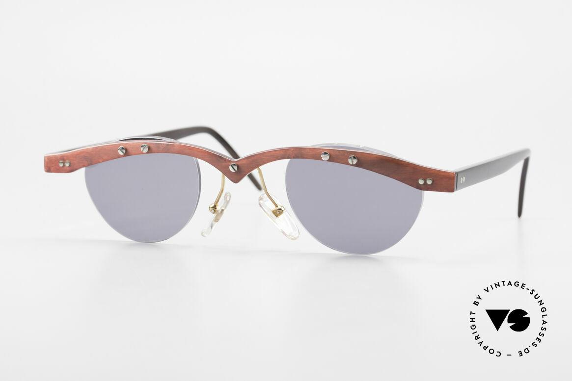 Theo Belgium Gamma Büffelhorn Sonnenbrille 90er, Theo Belgium: die eigenwilligste Brillenmarke, weltweit, Passend für Herren und Damen