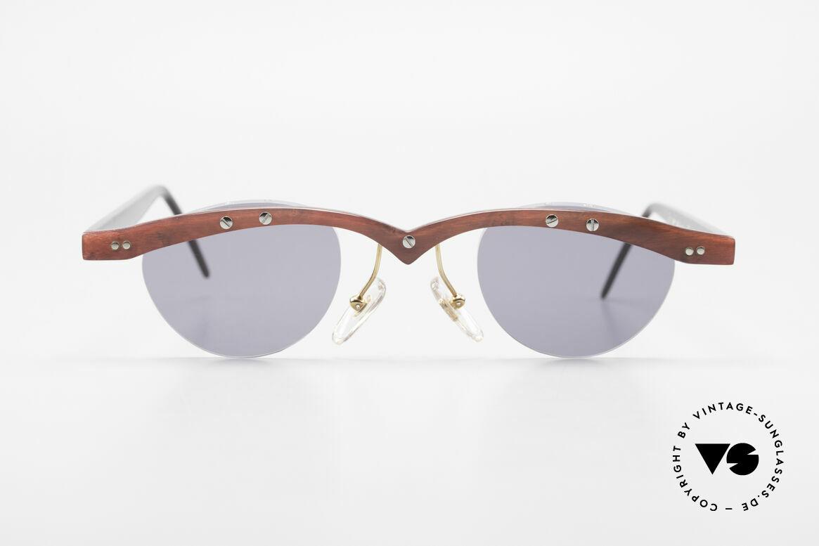 Theo Belgium Gamma Büffelhorn Sonnenbrille 90er, in 1989 gegründet als 'ANTI MAINSTREAM' Brillenmode, Passend für Herren und Damen