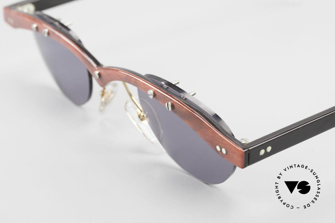 """Theo Belgium Gamma Büffelhorn Sonnenbrille 90er, die 1. Theo Serie """"Balkenbril"""" wurde aus Horn gerfertigt, Passend für Herren und Damen"""