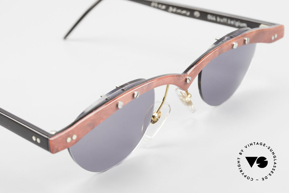 Theo Belgium Gamma Büffelhorn Sonnenbrille 90er, ungetragenes Theo-Einzelstück für die, die sich trauen ;), Passend für Herren und Damen