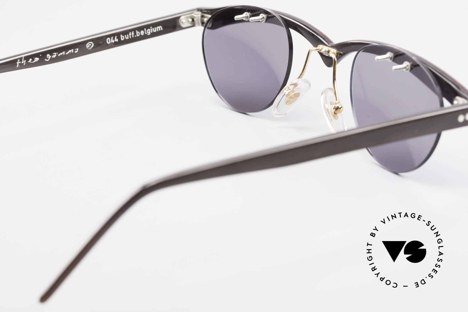 Theo Belgium Gamma Büffelhorn Sonnenbrille 90er, sozusagen: VINTAGE Sonnenbrille mit Symbol-Charakter, Passend für Herren und Damen