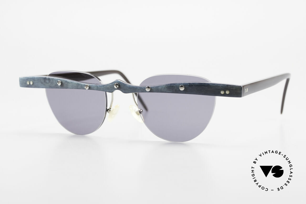 Theo Belgium Upsylon Büffelhorn Sonnenbrille 90er, Theo Belgium: die eigenwilligste Brillenmarke, weltweit, Passend für Herren und Damen