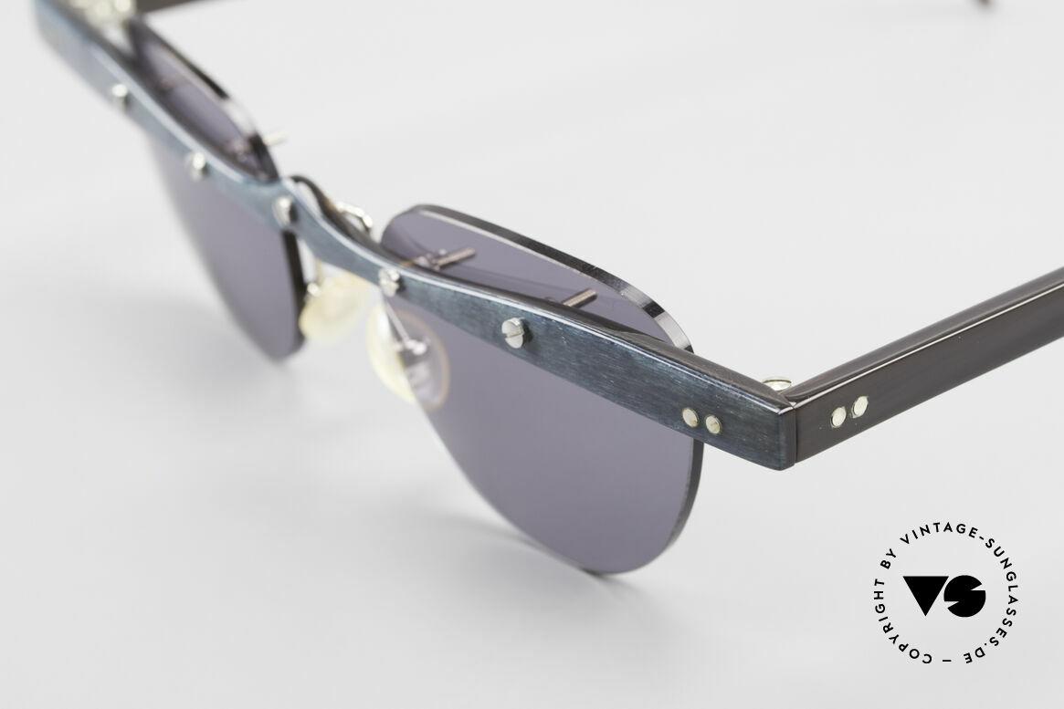 """Theo Belgium Upsylon Büffelhorn Sonnenbrille 90er, die 1. Theo Serie """"Balkenbril"""" wurde aus Horn gerfertigt, Passend für Herren und Damen"""