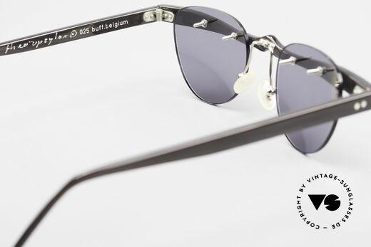 Theo Belgium Upsylon Büffelhorn Sonnenbrille 90er, sozusagen: VINTAGE Sonnenbrille mit Symbol-Charakter, Passend für Herren und Damen