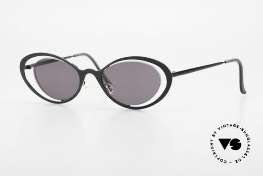 Theo Belgium LuLu Randlose Cateye Sonnenbrille Details
