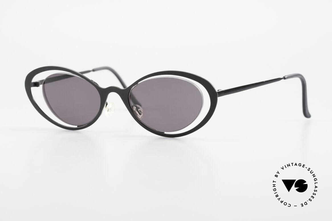 Theo Belgium LuLu Randlose Cateye Sonnenbrille, grandiose vintage Theo Belgium Sonnenbrille v. 1997, Passend für Damen