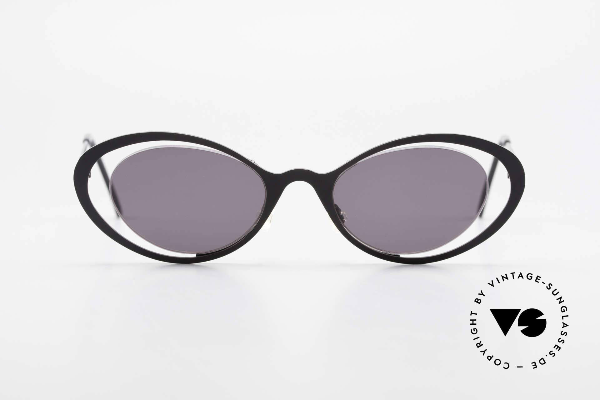 """Theo Belgium LuLu Randlose Cateye Sonnenbrille, originelles Modell: """"vollrand"""" und """"randlos"""" zugleich, Passend für Damen"""