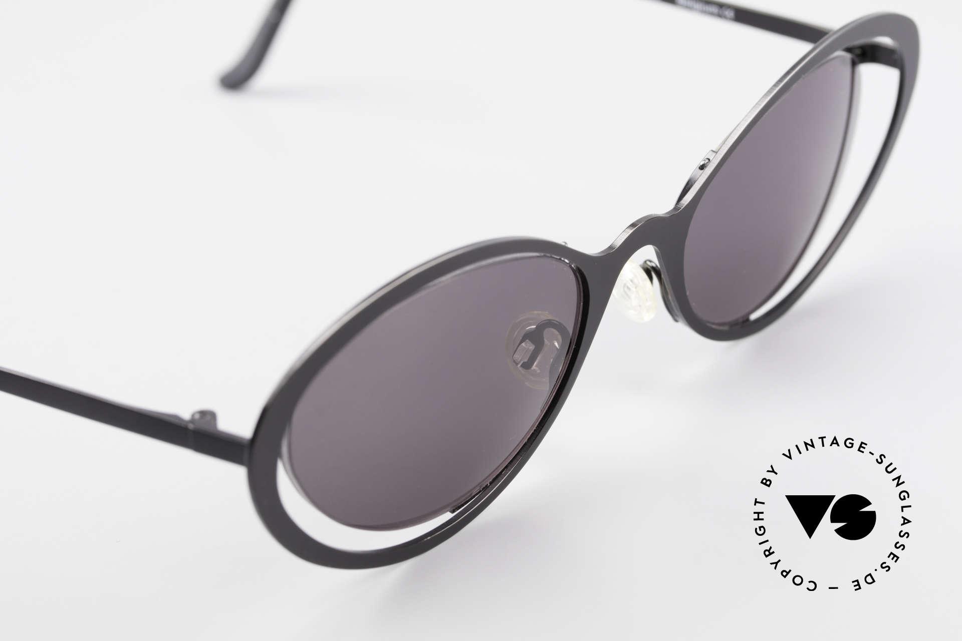 """Theo Belgium LuLu Randlose Cateye Sonnenbrille, ungetragen; wie alle unsere THEO """"Charakter-Brillen"""", Passend für Damen"""