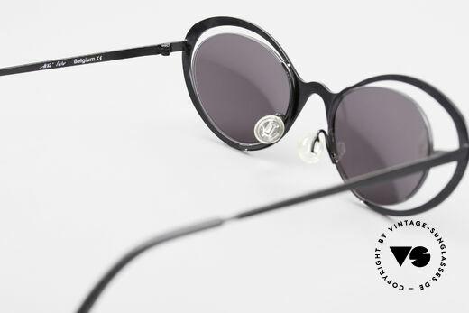 Theo Belgium LuLu Randlose Cateye Sonnenbrille, KEINE RETRObrille; ein ca. 20 Jahre altes ORIGINAL, Passend für Damen