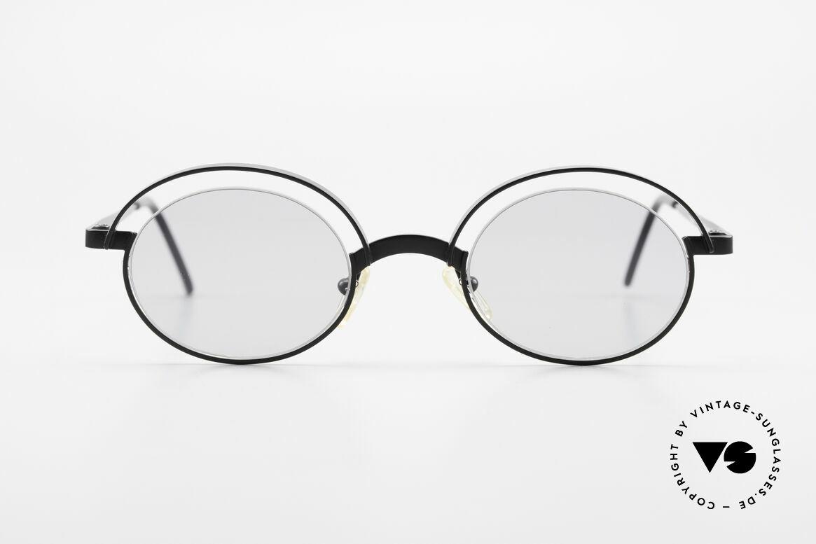 """Theo Belgium Lady Verrückte 90er Sonnenbrille, originelles Modell: """"vollrand"""" und """"randlos"""" zugleich, Passend für Damen"""