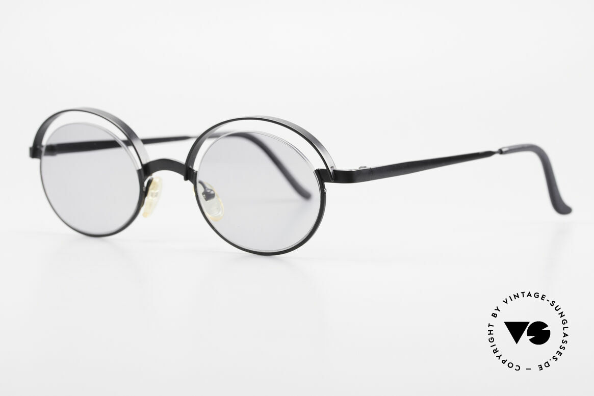 Theo Belgium Lady Verrückte 90er Sonnenbrille, Gläser werden u.a. durch einen Nylor-Faden gehalten, Passend für Damen