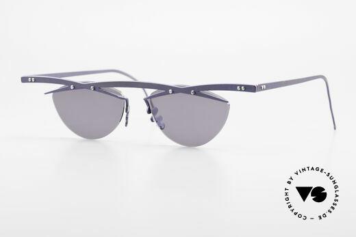 Theo Belgium Tita III 2 Crazy Vintage Sonnenbrille XL Details
