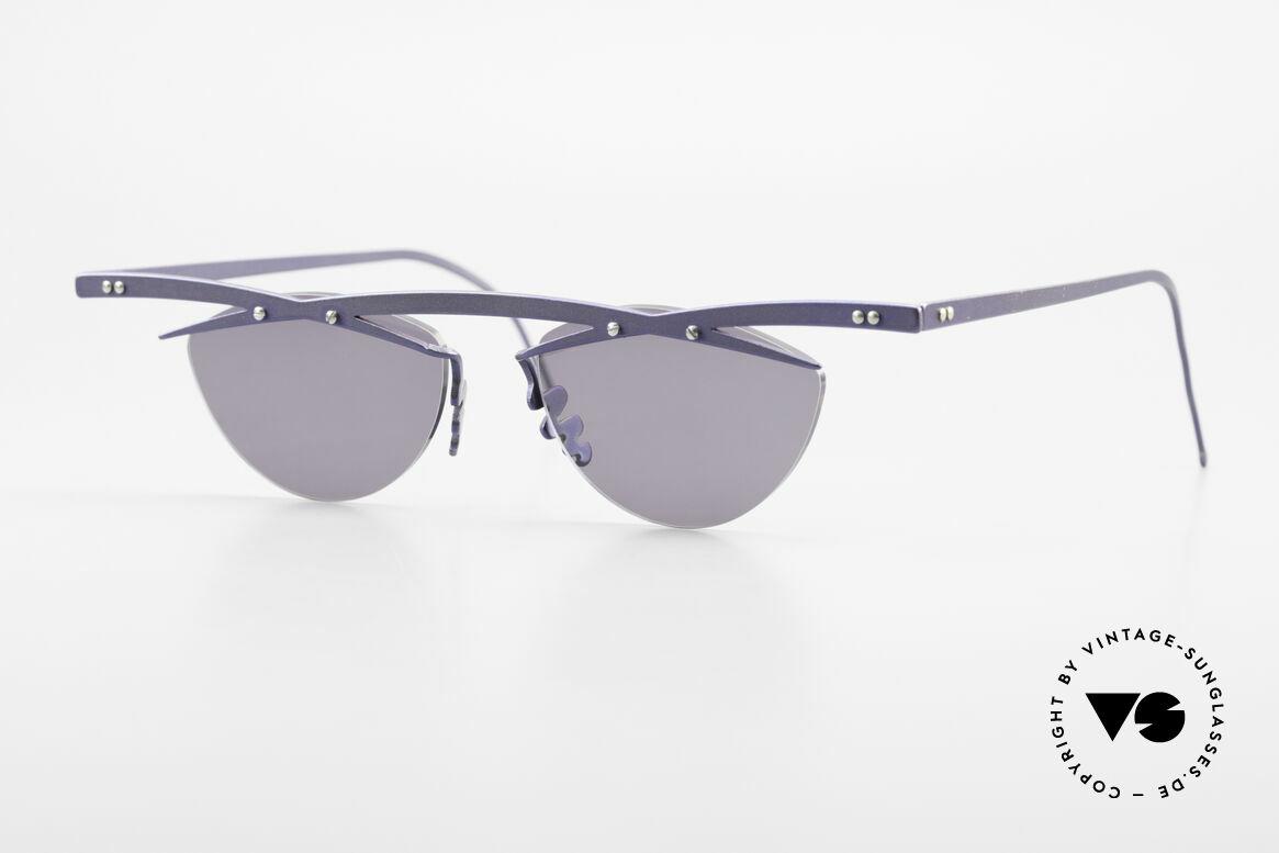 Theo Belgium Tita III 2 Crazy Vintage Sonnenbrille XL, Theo Belgium: die eigenwilligste Brillenmarke, weltweit, Passend für Herren und Damen