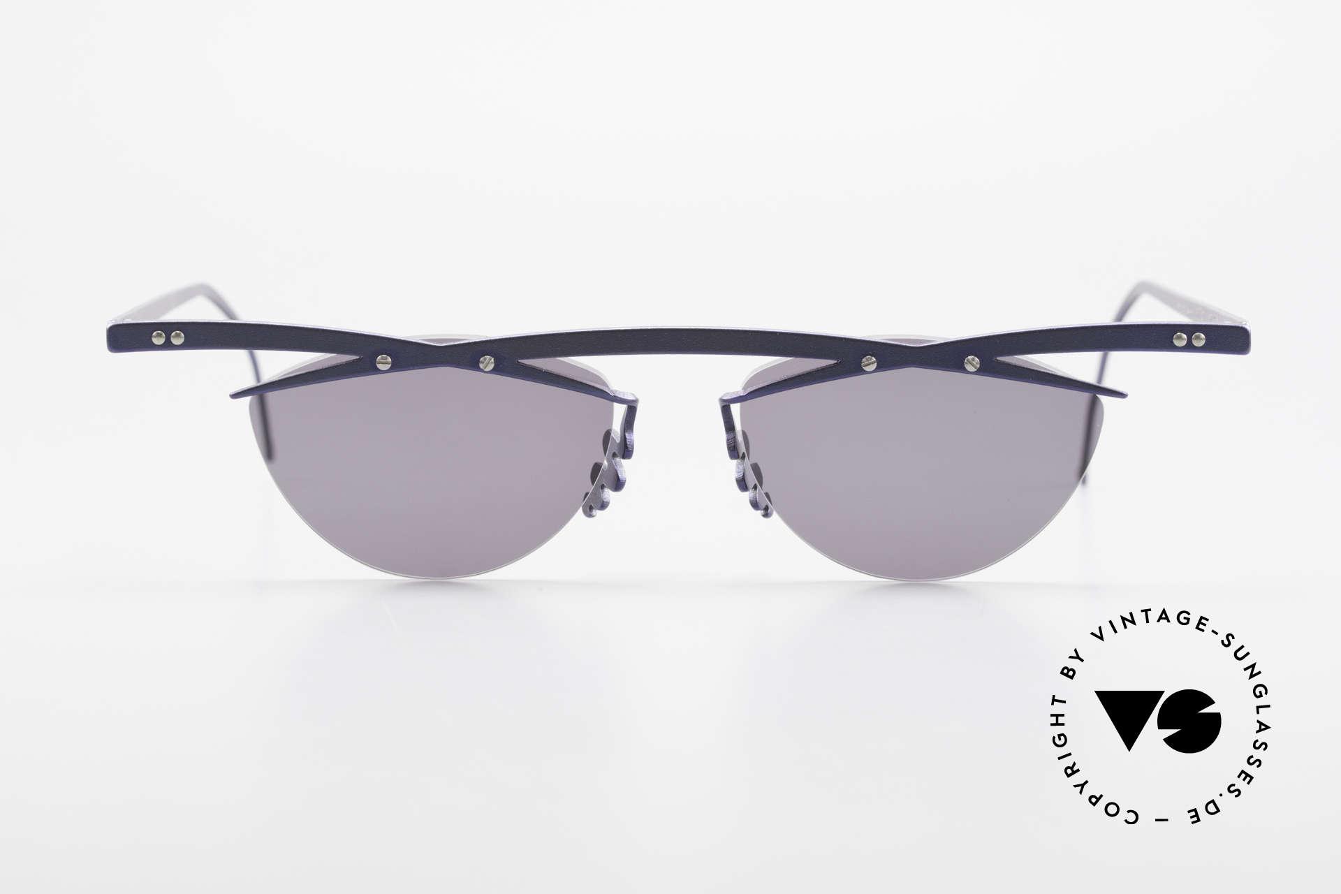 Theo Belgium Tita III 2 Crazy Vintage Sonnenbrille XL, in 1989 gegründet als 'ANTI MAINSTREAM' Brillenmode, Passend für Herren und Damen