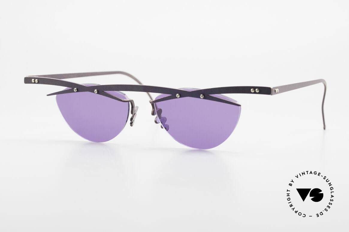 Theo Belgium Tita III 4 XL Crazy Vintage Sonnenbrille, Theo Belgium: die eigenwilligste Brillenmarke, weltweit, Passend für Herren und Damen