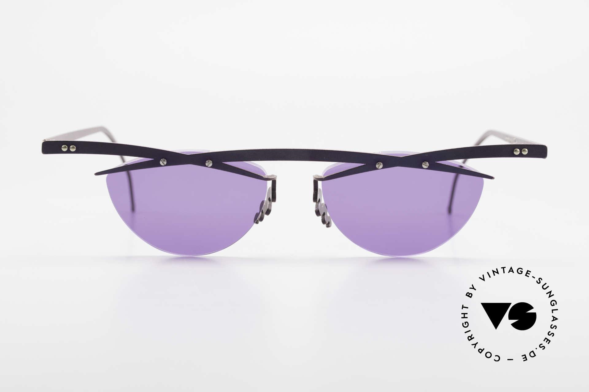Theo Belgium Tita III 4 XL Crazy Vintage Sonnenbrille, in 1989 gegründet als 'ANTI MAINSTREAM' Brillenmode, Passend für Herren und Damen