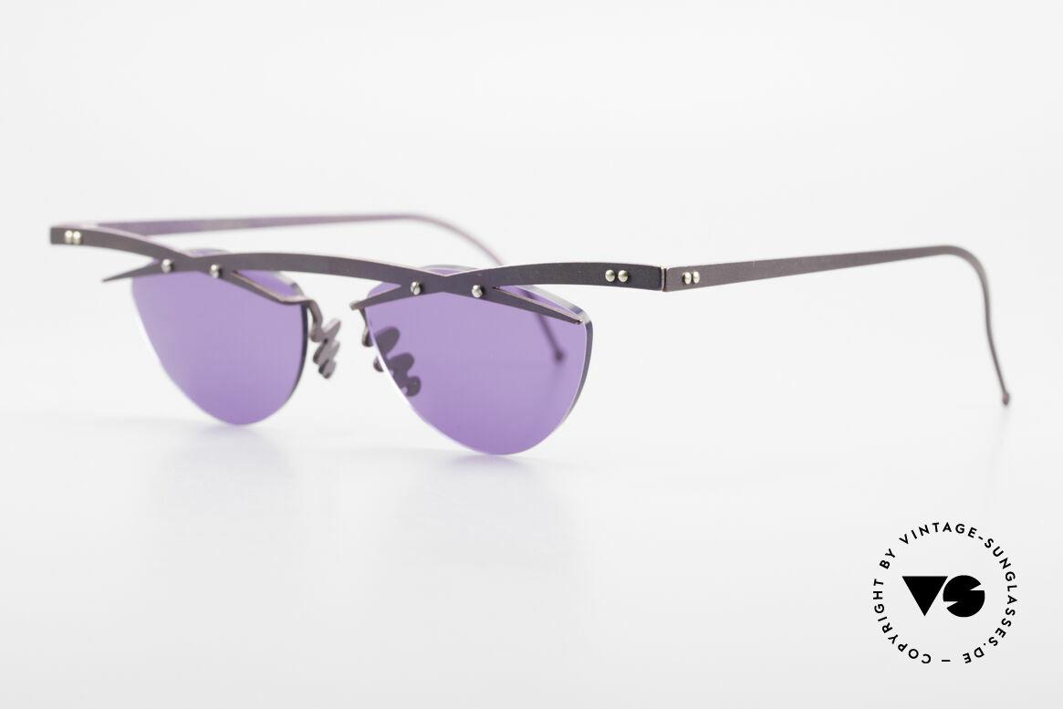 Theo Belgium Tita III 4 XL Crazy Vintage Sonnenbrille, TITA-Serie = XL Titanium Modelle von THEO der 1990er, Passend für Herren und Damen