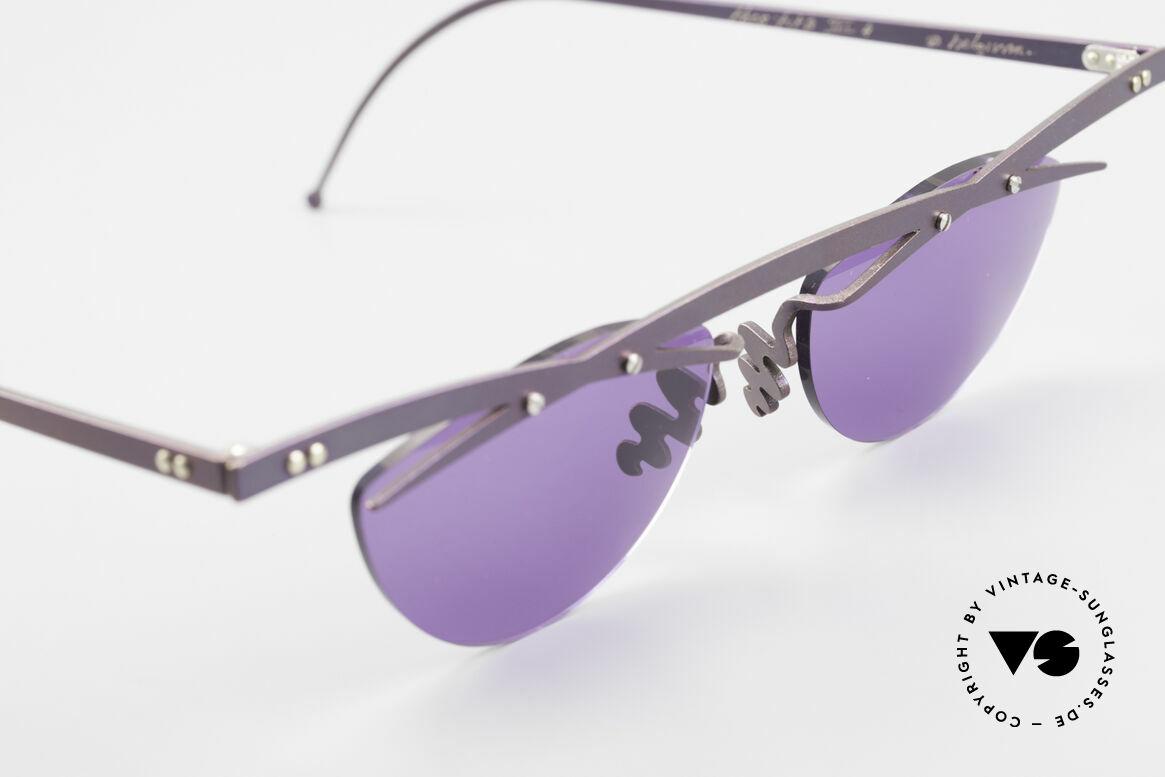 Theo Belgium Tita III 4 XL Crazy Vintage Sonnenbrille, ungetragenes Theo-Original und KEINE RETROBRILLE!, Passend für Herren und Damen
