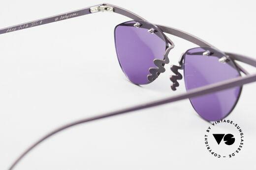 Theo Belgium Tita III 4 XL Crazy Vintage Sonnenbrille, LILA Sonnengläser (100% UV) sind ggf. auswechselbar, Passend für Herren und Damen
