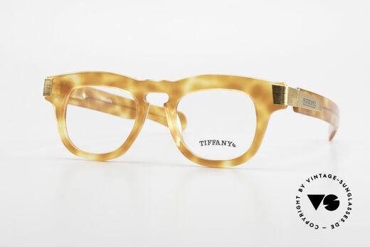 Tiffany T739 Markante Luxus Nerd Brille Details