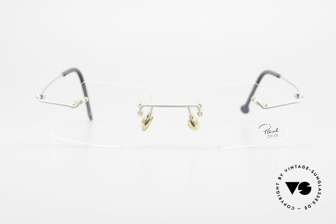 Paul Chiol 2001 Randlose Vintage Kunstbrille, ein Synonym für anspruchsvolle rahmenlose Brillen, Passend für Herren und Damen