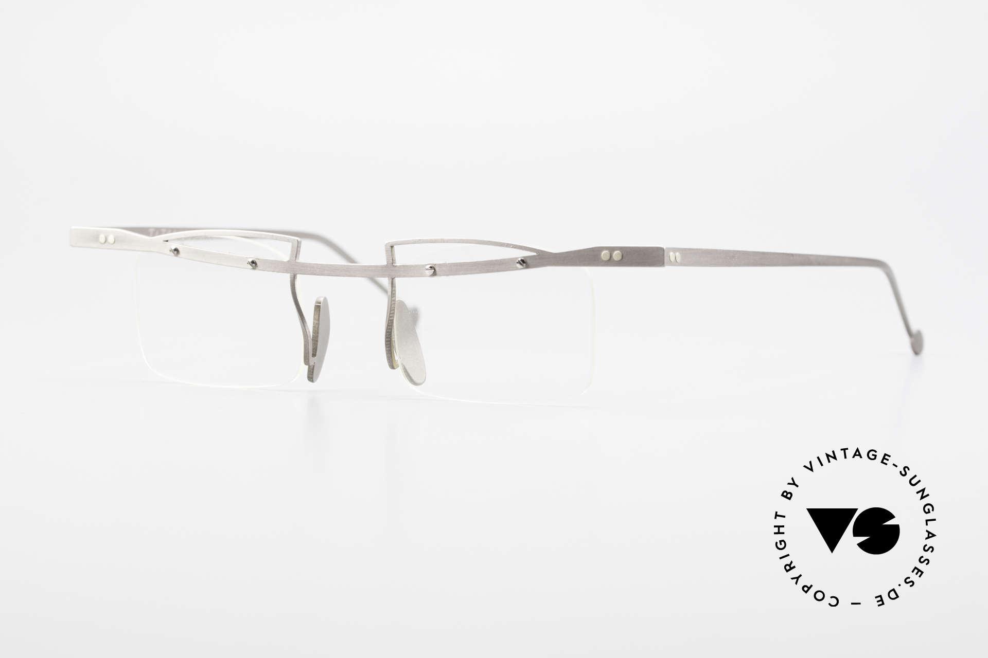 Rosenberger Franca Titan Brille Made in Bayern, interessante alte Brillenfassung von Rosenberger, Passend für Herren und Damen