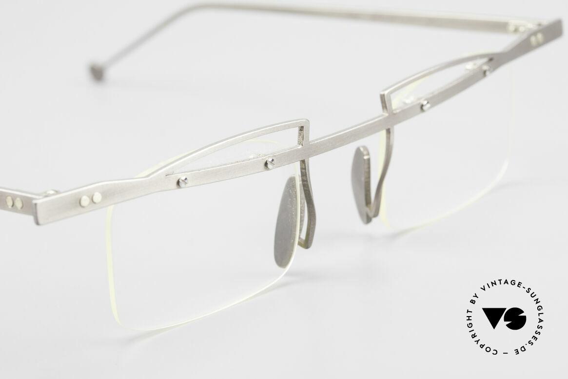 Rosenberger Franca Titan Brille Made in Bayern, ungetragenes Einzelstück aus den frühen 90er Jahren, Passend für Herren und Damen