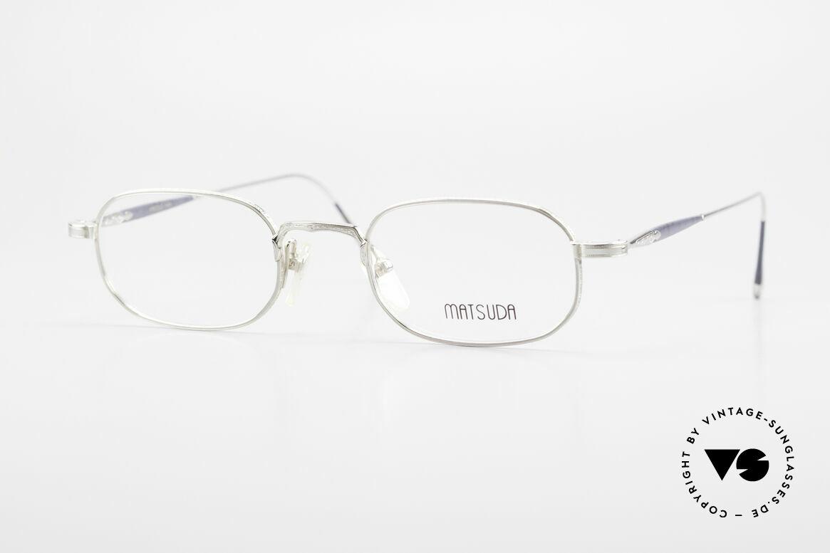 Matsuda 10108 90er Herrenbrille High End, VINTAGE Matsuda Brille 10108 aus den frühen 1990ern, Passend für Herren