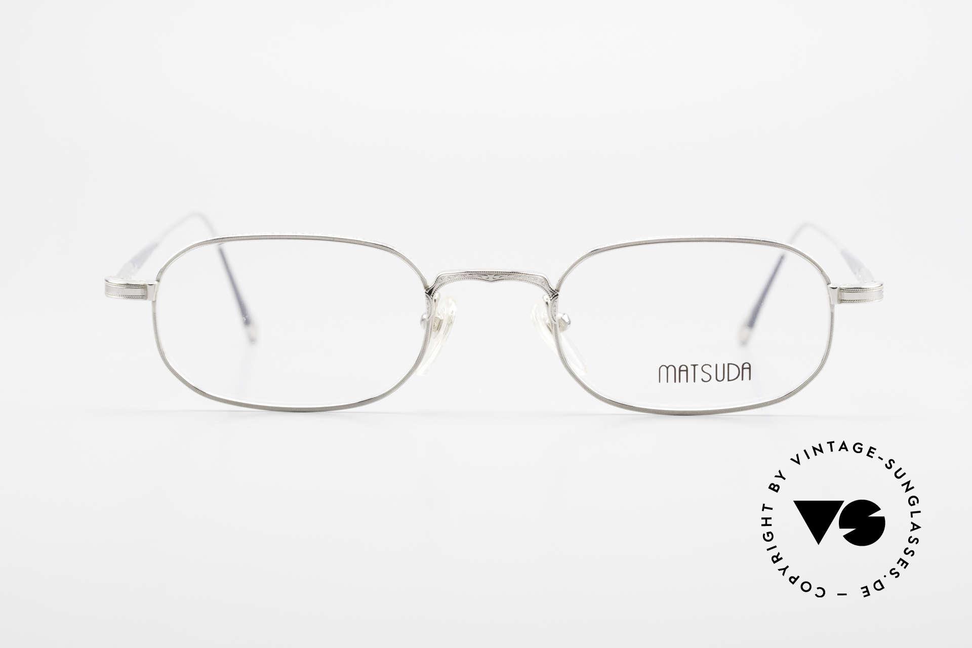 Matsuda 10108 90er Herrenbrille High End, unglaublich hochwertige Fassung mit Liebe zum Detail, Passend für Herren