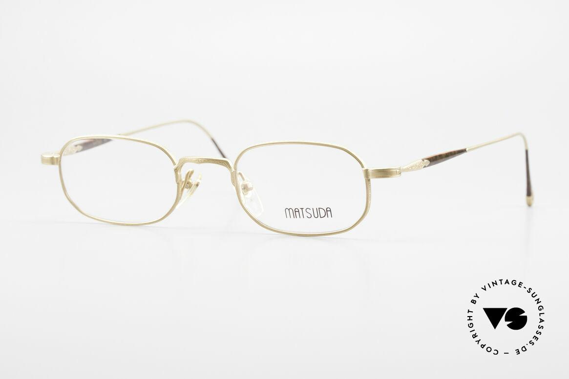 Matsuda 10108 Herrenbrille 90er High End, VINTAGE Matsuda Brille 10108 aus den frühen 1990ern, Passend für Herren