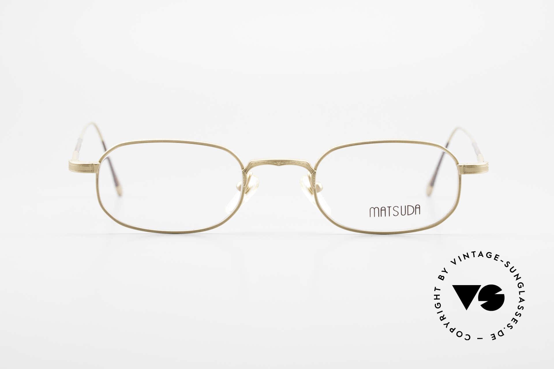 Matsuda 10108 Herrenbrille 90er High End, unglaublich hochwertige Fassung mit Liebe zum Detail, Passend für Herren