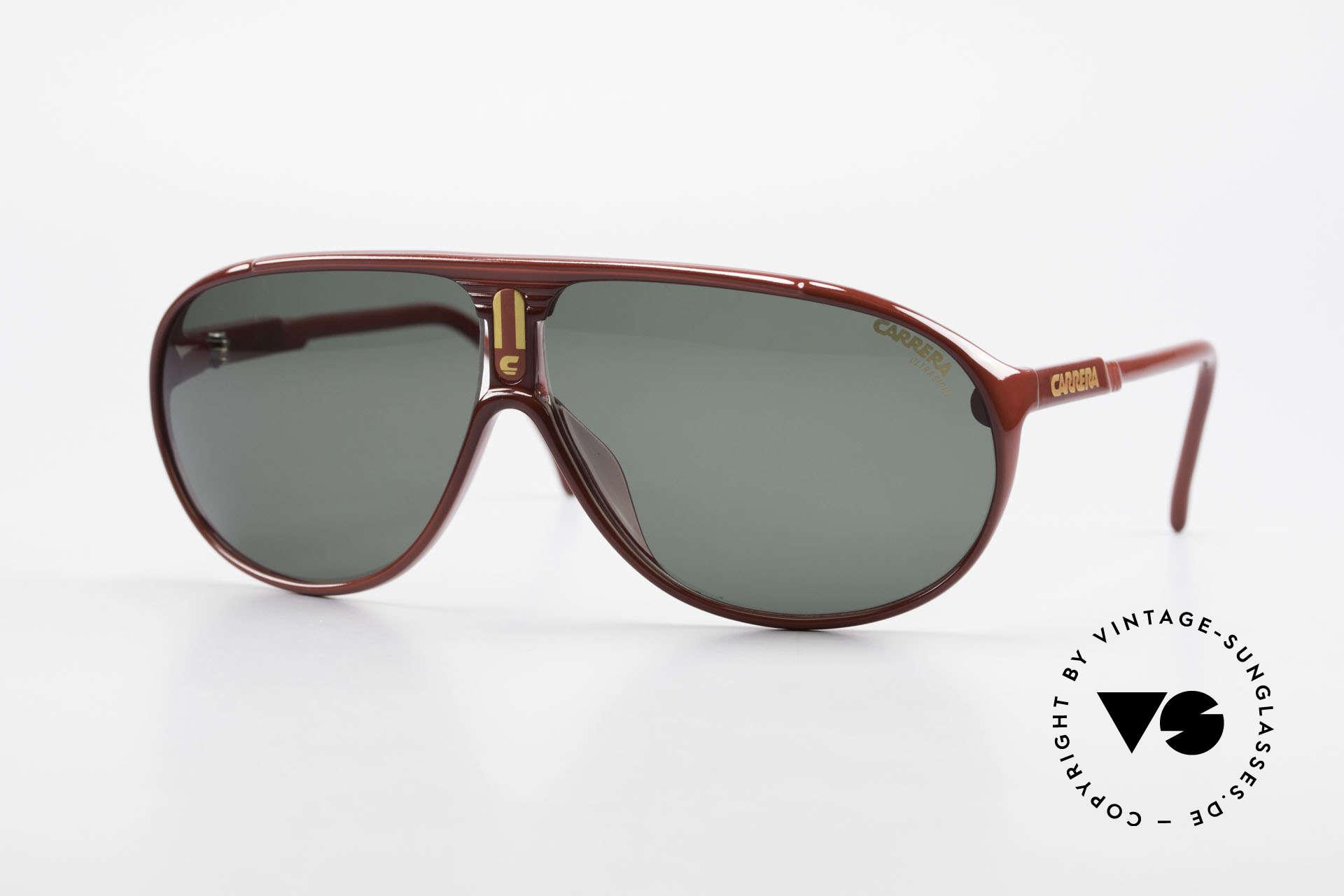 Carrera 5412 Brille 3 Paar Wechselgläser, einfach geniale 80er vintage Sonnenbrille von Carrera, Passend für Herren und Damen