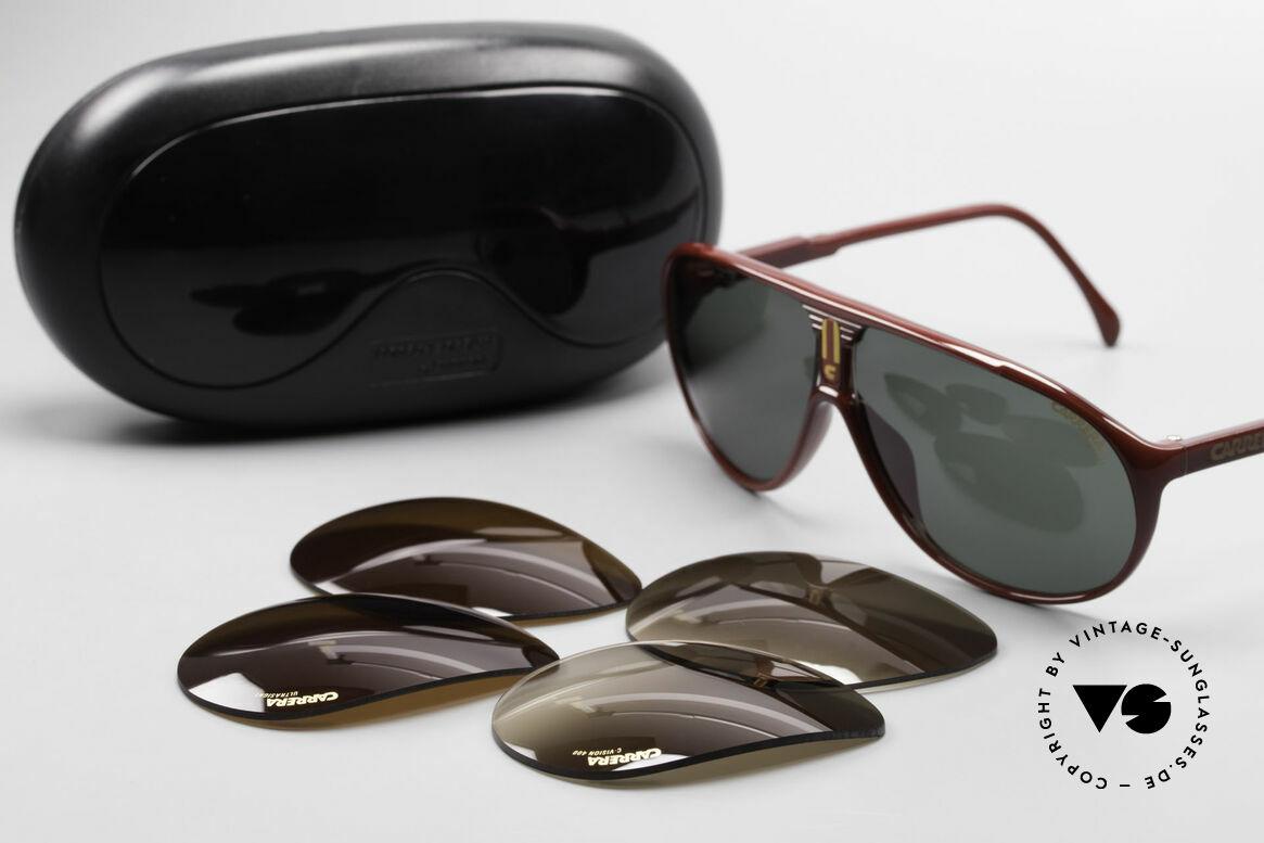 Carrera 5412 Brille 3 Paar Wechselgläser, KEINE Retrobrille; ein mind. 30 Jahres altes ORIGINAL!, Passend für Herren und Damen