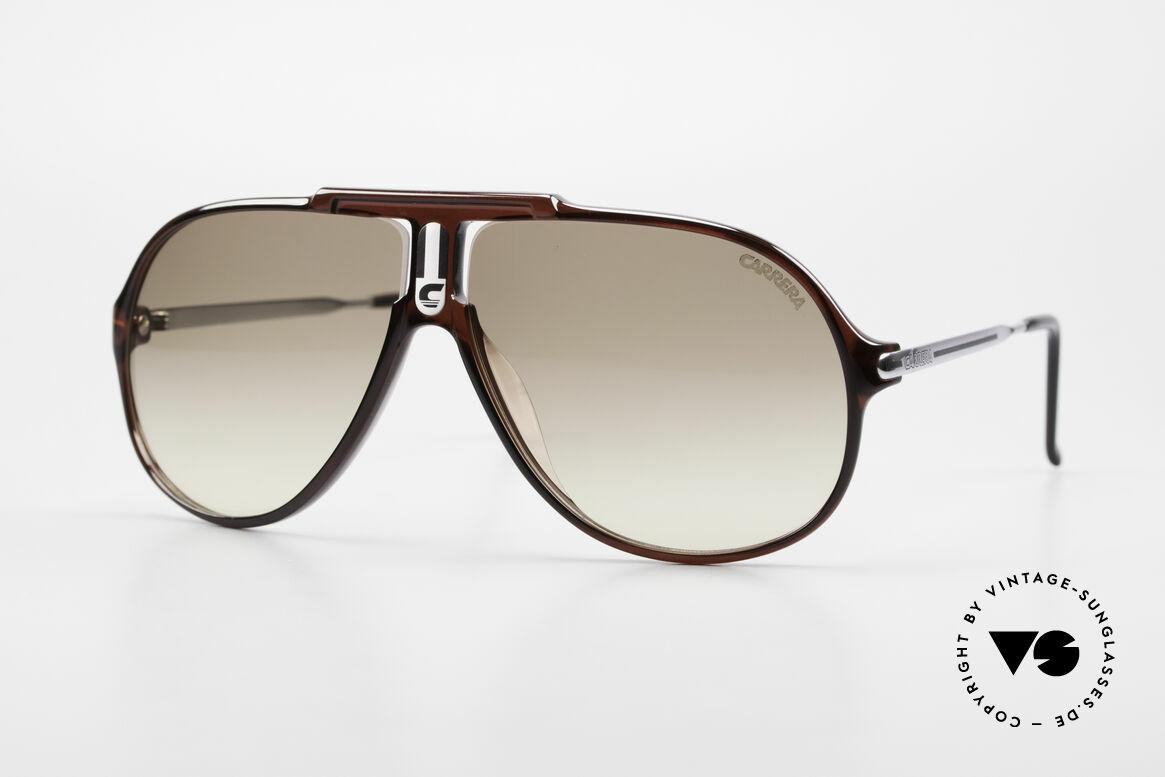 Carrera 5590 3 Sets Auswechselbare Gläser, einfach geniale 80er vintage Sonnenbrille von Carrera, Passend für Herren