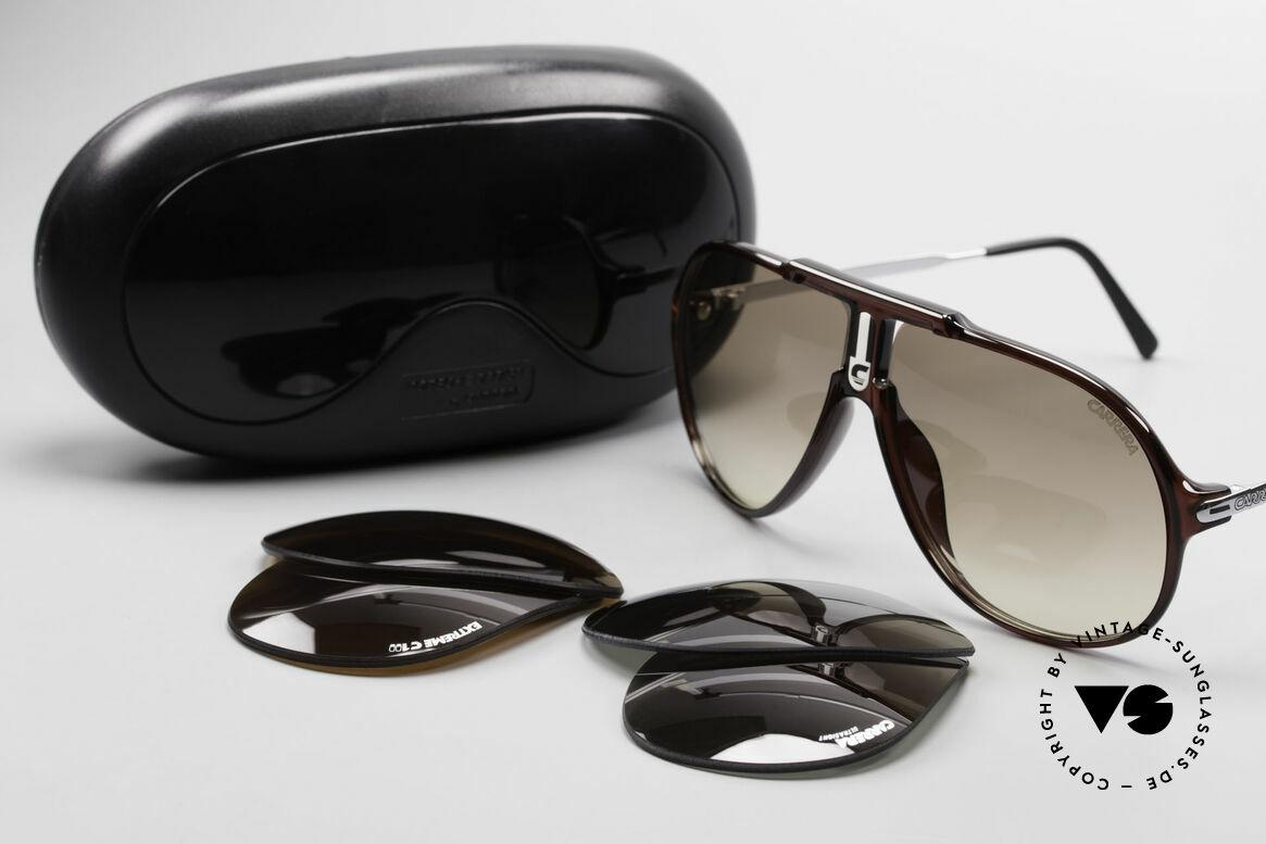 Carrera 5590 3 Sets Auswechselbare Gläser, KEINE Retrobrille; ein mind. 30 Jahres altes ORIGINAL!, Passend für Herren