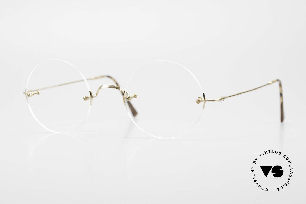 Lunor Classic Round GP Steve Jobs Brille Randlos, LUNOR Classic Round Brille ist DIE Steve Jobs Brille, Passend für Herren und Damen